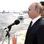 Video of Navy Day parade in Saint Petersburg, producers missed the flagship