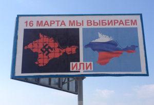 Crimea referendum poster